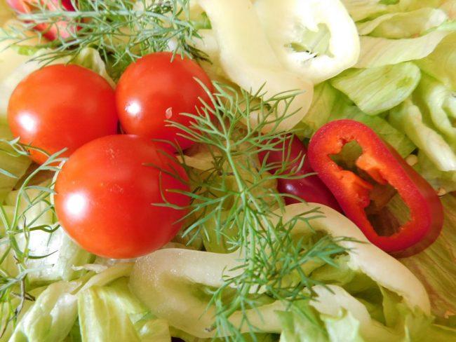 Zöldségtál